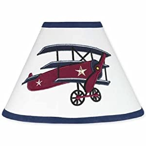 Sweet Jojo Designs Vintage Aviator Airplane Lamp Shade