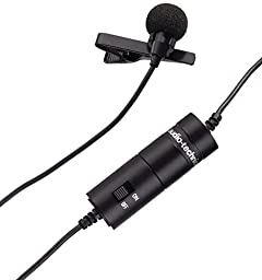 Audio-Technica ATR3350 Omnidirectional Condenser Lavalier Microphone