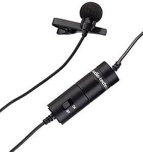 Audio-Technica ATR-3350 - Micrófono de condensador (omnidireccional), color negro