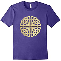 Mens Celtic Knot Shirt - Gaelic Knot Tee Gift for St Pat's Day 3XL Purple