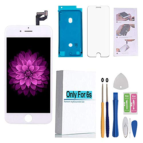 Screen Replacement Compatible iPhone 6s White LCD Display 3D Touch Digitizer Screen Assembly & Repair Tool Kit & Screen Protector