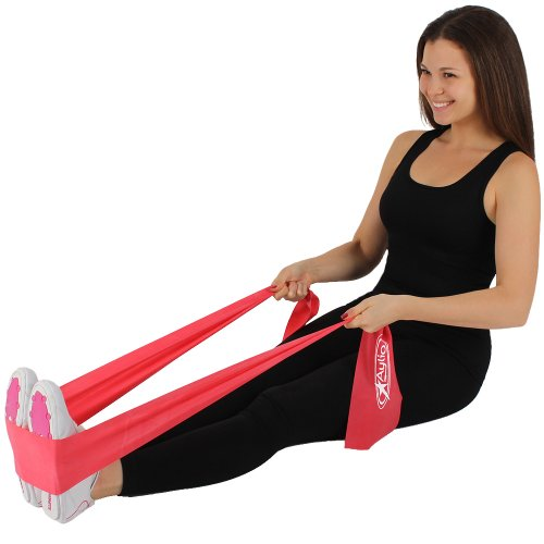 Aylio 3 Flat Stretch Bands Exercise Set (Light, Medium, Heavy Resistance) and Door Anchor