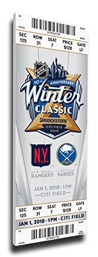 Winter Classic Mega Ticket (2018 NHL Winter Classic Canvas Mega Ticket (Small) - Rangers vs Sabres)
