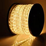 Christmas Xmas New Year Lighting LED Rope Light 150ft White I w/ Connector
