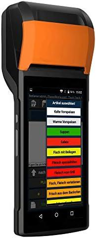 """6"""" All-in-One Minikasse mit Bondrucker für mobile Dienste (Catering, Friseure, Maniküre etc.), Tachenkasse, GoBD, GDpdU, TSE-2020 Konform"""