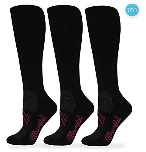 Wrangler Women's Ladies Western Boot Socks 3 Pair Pack, Black, (Wrangler Boots)