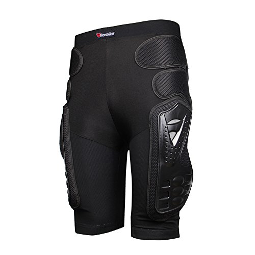 - HEROBIKER Motorcycle Armor Pants Leg Ass Motocross Protection Riding Racing Equipment Gear Overland Motocross Protector (Black, L)