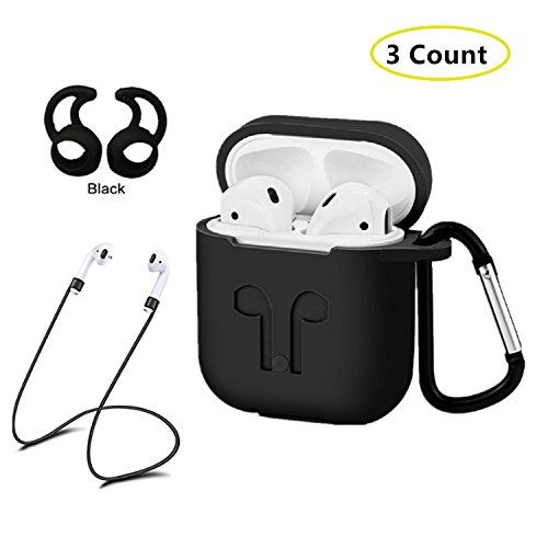 AC Parts AirPods Case Protective Silicone Cover with 2 Ear Hook , 2 Anti-loss Strap, 1 earphone bag for Apple Airpods Charging Case - Canada Macys Shipping To