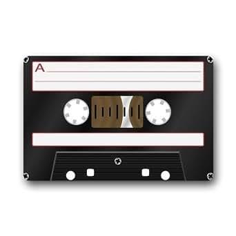 Lovelife Retro Fashion Funny Decoractive cinta de casete máquina de tela lavable y antideslizante Felpudo de goma interior/al aire libre Felpudo Alfombrilla de suelo, 18(L) X 30(W) pulgadas