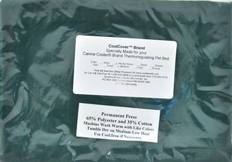 Canine Cooler Covers (Canine Cooler Dog Bed Cover- MEDIM (Hunter Green))