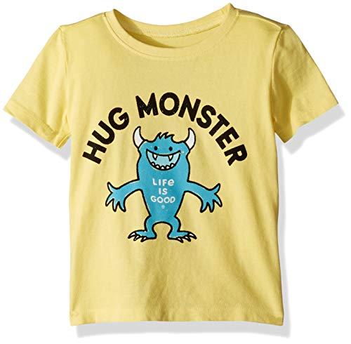 (Life is Good Toddler Crusher Tee Hug Monster, Happy Yellow, 3T)