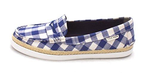 Cole Haan Chaussures Bateau Pour Femme/US Frauen Blue/White Squares rOopnbOoGs