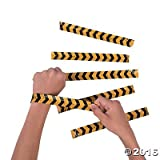 Construction Zone Slap Bracelets - 12 pcs