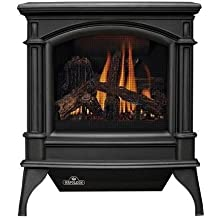 "Napoleon Knightsbridge VF Series GVFS60-1N 27"""" Vent Free Natural Gas Stove with Millivolt Ignition Up to 30 000 BTU's Pan Style Burner PHAZER Log Set Oxygen Depletion Sensor and 100% SAFE GUARD Gas Control System in Metallic Black"