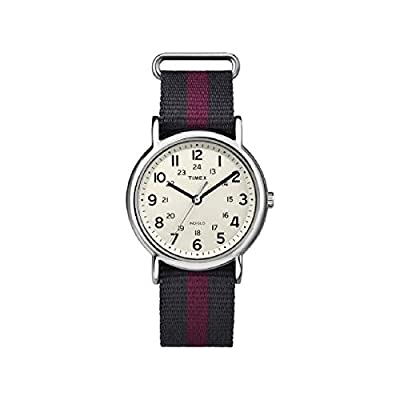 """Timex Unisex """"Weekender"""" Watch With Pattern Band"""