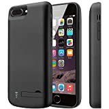 PEYOU Compatible for iPhone 8 Plus/7 Plus Battery Case [Fit for Lightning Headphones], 8000mAh Slim Protective Extended Backup Charger Charging Battery Case Compatible for iPhone 8 Plus/7 Plus 5.5''