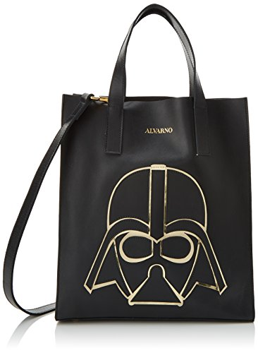 W Alvarno Women's H Bag Geométrico Darth L Shoulder cm Black Negro x 13x31x27 Vader Fr4CxF