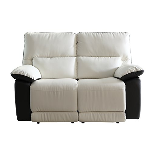 Divano Roma Furniture Modern Two Tone Bonded Leather