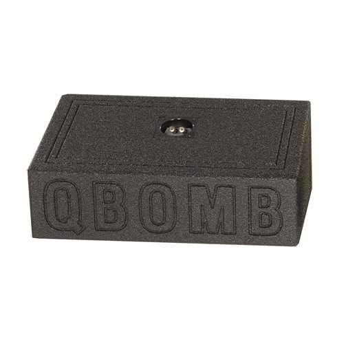 Q Power QBTRUCK110 Single 10-Inch Sealed Universal Truck Speaker Boxes with Durable Bed Liner Spray (Truck Box Single)