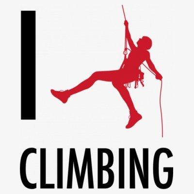Sudadera con capucha de mujer I Love Climbing by Shirtcity Blanco