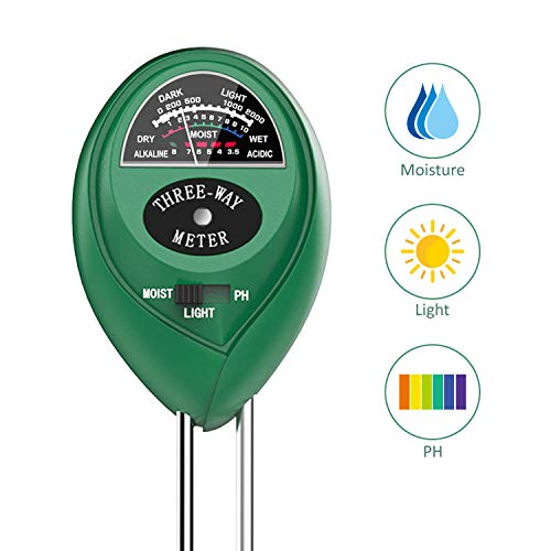 Dr.meter S30 Soil Moisture Meter, Soil PH Moisture Sunlight 3 in 1 Soil Test Kits for Garden, Lawn Plants Indoors & Outdoors