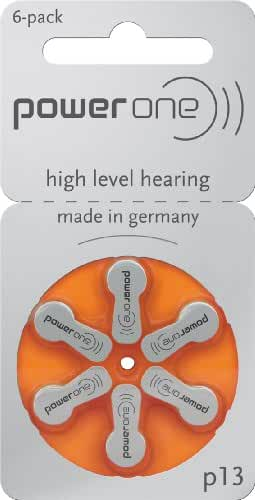 Powerone Hearing Aid Batteries, Size 13, 60 Pack