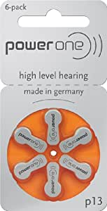 Hearing Aid Battery Powerone size 13 made in Germany Genuine 60 Pack