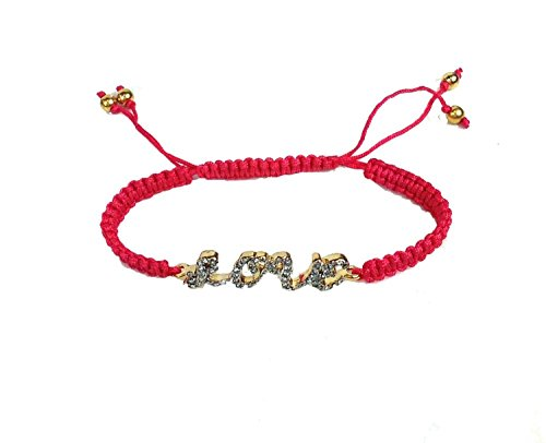 Juicy Couture Pave Bracelet - Juicy Couture Pave 'LOVE' Friendship Bracelet, Pink