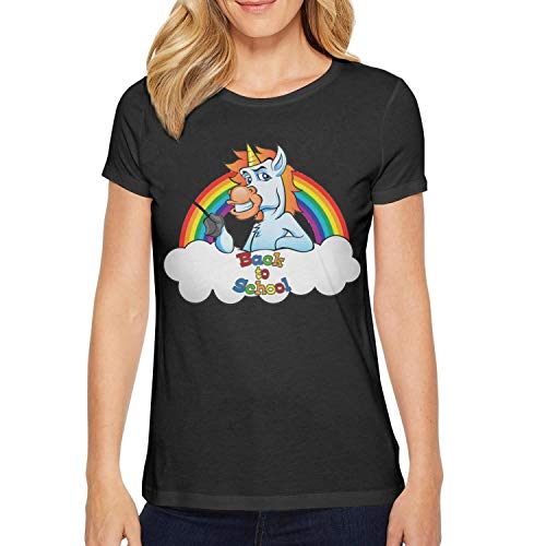 CCBING Women's Back to School Unicorn Teacher Fashion Cute Shirts ()