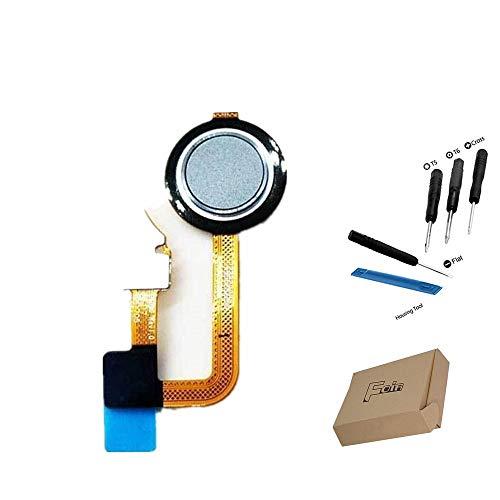 Foir Replacement Home Button Flex Cable Fingerprint Sensor Flex Cable for LG G6 Unlocked Smartphone- Ice Platinum Light Blue