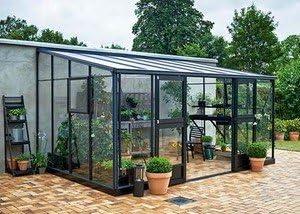 Invernadero de cristal templado Veranda 12, 9 M²: Amazon.es: Jardín