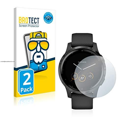 BROTECT Full-Cover Screenprotector compatibel met Garmin vivoactive 4 (45 mm) (2 Stuks) – Full-Screen Schermbeschermer…