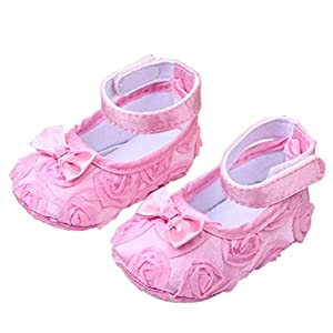 Cute Baby Girl Crib Shoes Comfortable AntiSlip Princess Toddler 0 12 month
