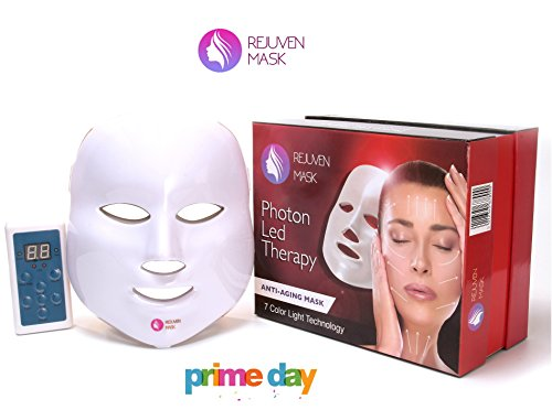 Rejuven Mask Photon LED Therapy Mask Includes FREE bottle of Argan Oil for Anti-aging, Brightening, Improve Wrinkles. Tightening and Smoother (Light Renewal Therapy)
