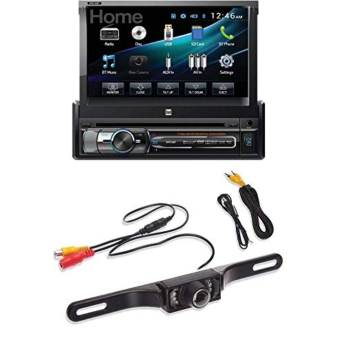 Dual XDVD156BT Single DIN Bluetooth in-Dash DVD/CD/AM/FM Car Stereo Receiver w/ 7