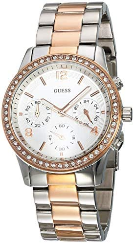 Guess Sports Silver Rose Gold Watch W0122L1