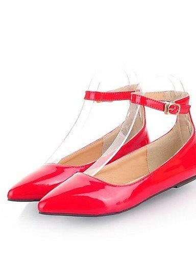 Taln de amarillo Blue rojo Ballerina 5 Sinttica Piel Zapatos Mujer azul Uk5 Flats Negro Cn38 verde Eu38 De 5 Outdoor Pdx almendra casual Plano us7 nYUdqw6Y