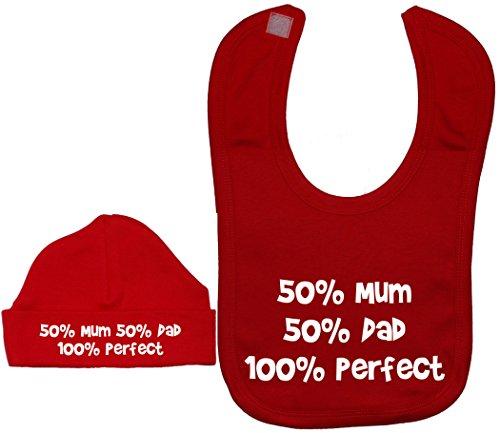 12 Products Mum rosso 100 e da per Daddy berretto Acce Perfetto berretto mesi a bavaglino 50 0 UBxHqw6