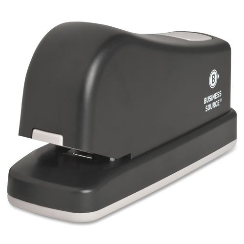 Electric Stapler, 16 Sheet Capacity, Dark Gray, Sold as 1 Each - Business Source Electric Stapler, 16 Sheet Capacity, Dark Gray