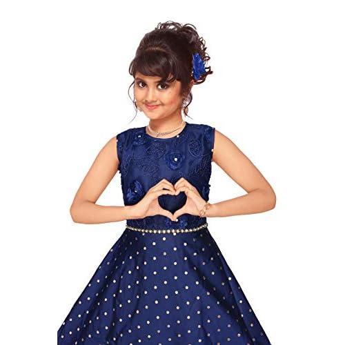 41amr Qv7jL. SS500  - 4 YOU Fancy Girl Long Frock (Blue)
