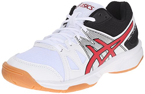 Amazon.com | ASICS GEL-Upcourt GS Volleyball Shoe (Little Kid/Big Kid),  White/Racing Red/Black, 1 M US Little Kid | Athletic