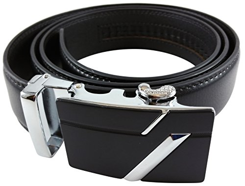 Soft Genuine Leather Ratchet Dress Belt Small by Sirmco Supplies, Black, Small - 34