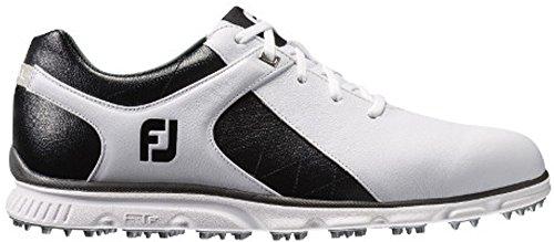 FootJoy Men's Pro/SL-Previous Season Style Golf Shoes White 7.5 W Black, US