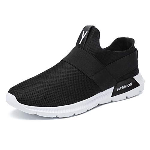 en À 45 Black Sneaker Respirante Hommes Mode Chaussures Shoes La Gshe Maille A4Z6ZS