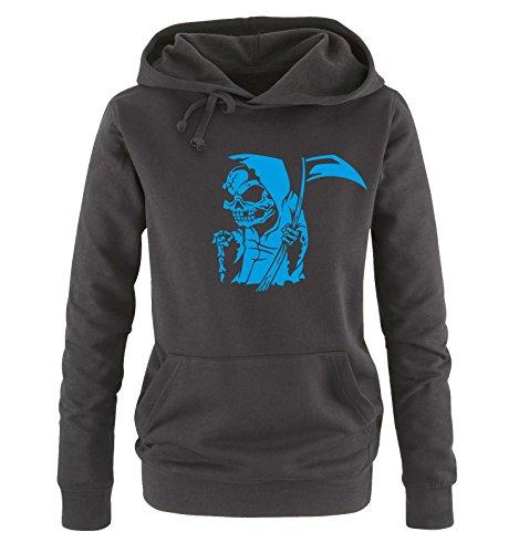 Shirts Taglia Hoodie Cappuccio S Sweater Xl Comic Comedy Nero Reaper Blu Donna fdwy6AqSq