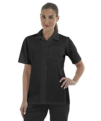 ChefUniforms.com Women's Kitchen Shirt with Mesh Sides (XS-3X, 2 Colors) (Large, Black) by ChefUniforms.com (Image #6)