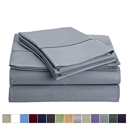 Audley Home 800 Thread Count 100% Egyptian Cotton Extra Long Staple Bed Sheet Set 3 Piece Bedding Extra Deep Pocket upto 18