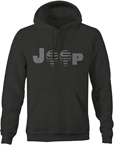 Stealth - Jeep Punisher US Flag Skull - Military Police Sweatshirt -Medium