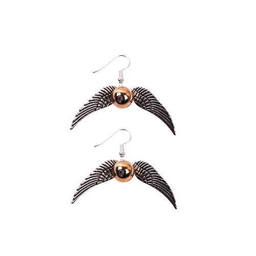 YGDZ Top Quality Harry Potter Golden Snitch Quicksilver Golden Pearl Earrings Shipping by FBA (Harry Potter Snitch)