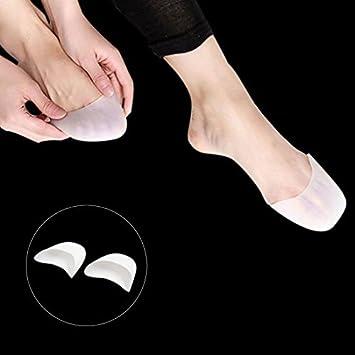 eDealMax 1 par de silicona Blanca Gel Puntera de Pointe del Ballet Danza Zapatos Cojines Protector